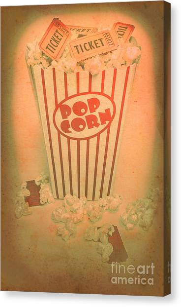 Popcorn Canvas Print - Pop Art Theatre by Jorgo Photography - Wall Art Gallery