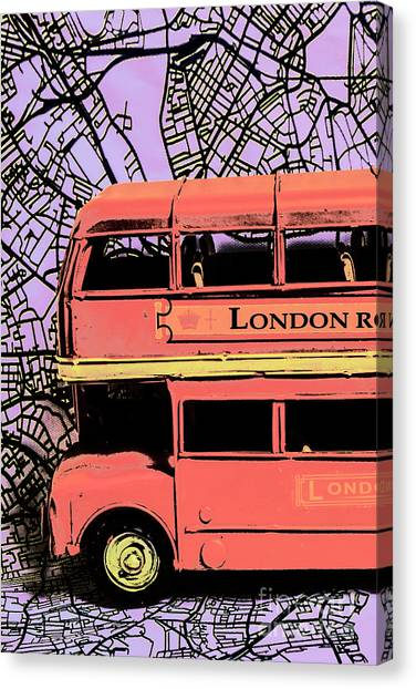Pop Art Uk Canvas Print
