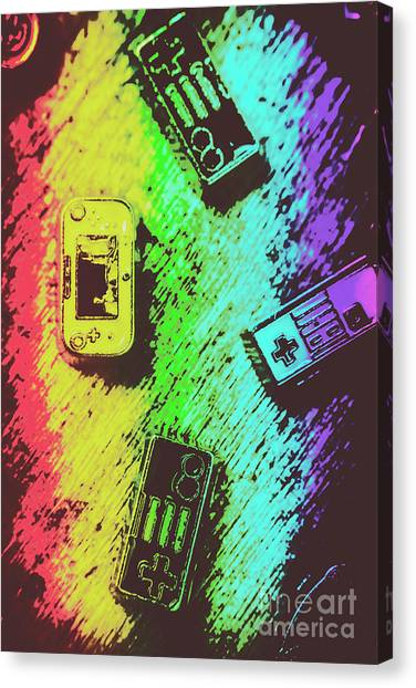 Arcade Games Canvas Print - Pop Art Video Games by Jorgo Photography - Wall Art Gallery