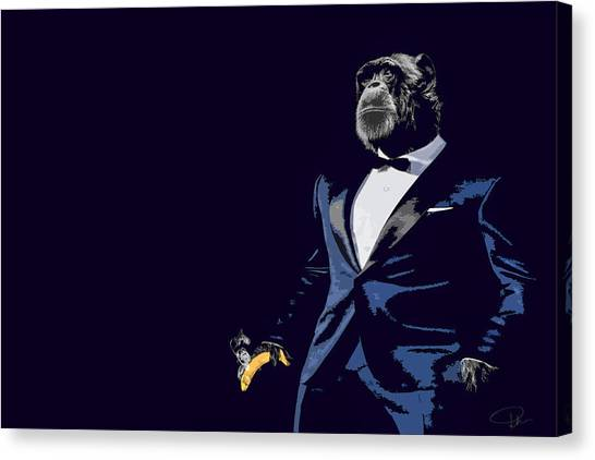 Primates Canvas Print - Pop Fiction by Paul Neville