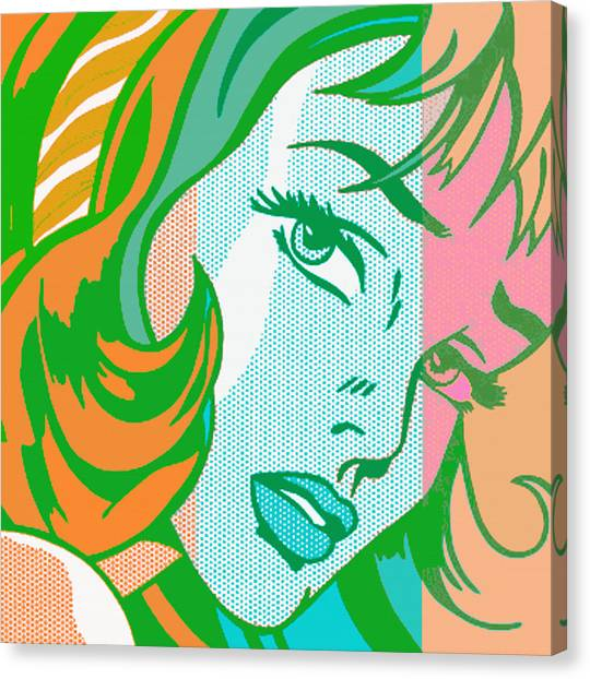 Girl Canvas Print - Pop Girl by Christian Colman
