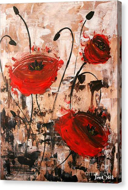 Pop Goes The Poppies Canvas Print