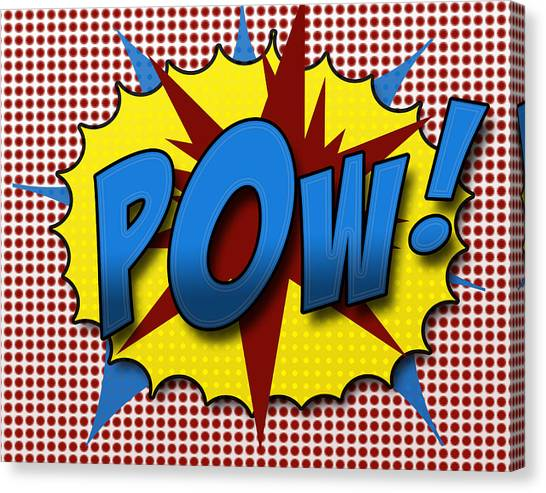 Pop Art Canvas Print - Pop Pow by Suzanne Barber