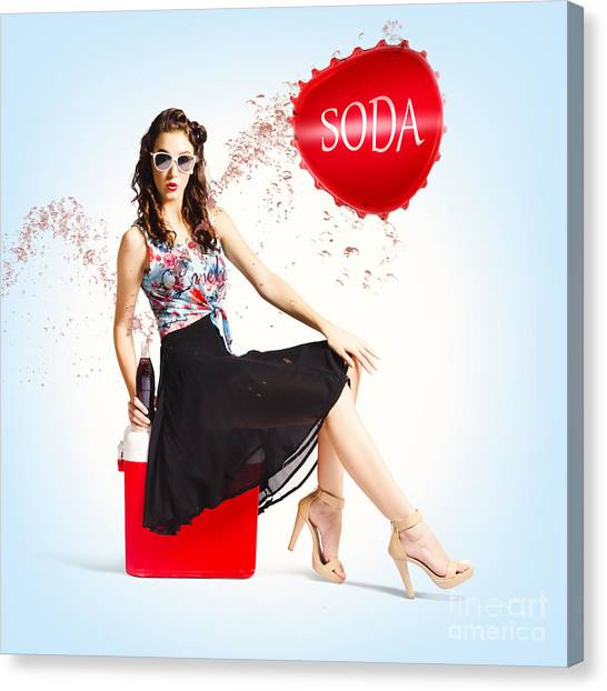 Creative Manipulation Canvas Print - Pop Top Pin Up by Jorgo Photography - Wall Art Gallery