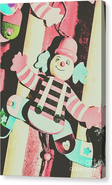 Traditional Canvas Print - Pop Up Clown Art by Jorgo Photography - Wall Art Gallery