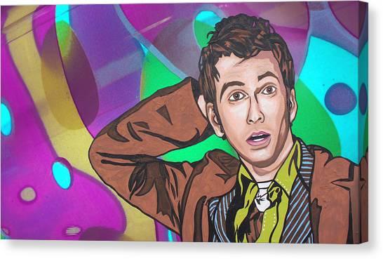 Pop Who Canvas Print by Sarah Crumpler