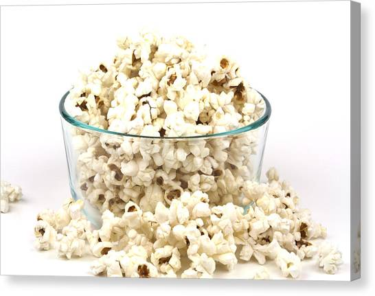 Popcorn Canvas Print - Popcorn In Glass Bowl by Blink Images