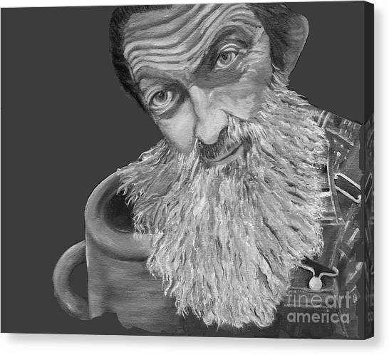 Popcorn Sutton Black And White Transparent - T-shirts Canvas Print