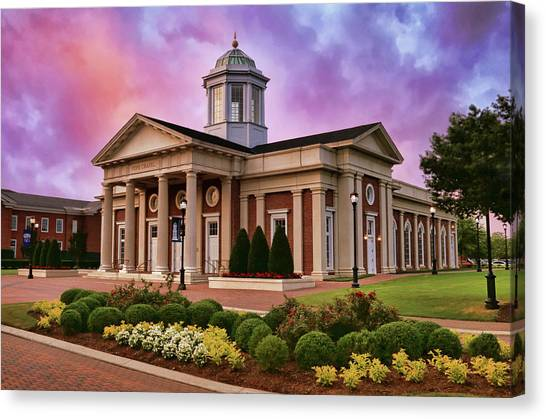 Pope Chapel Under Colorful Sky Canvas Print