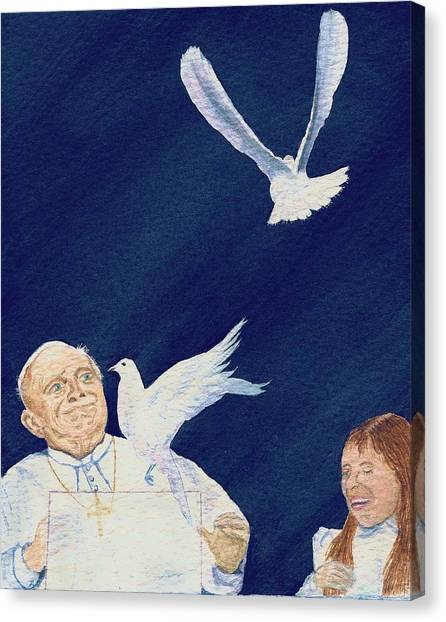 Pope John Paul II Canvas Print