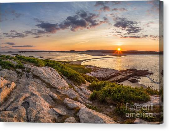 Popham Beach From Fox Island Canvas Print