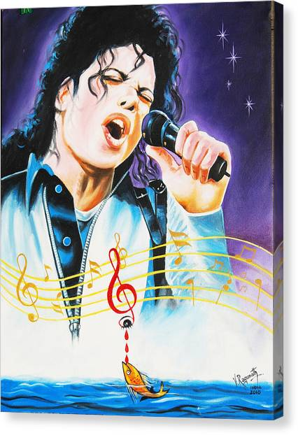 Popking Michael Jackson Canvas Print