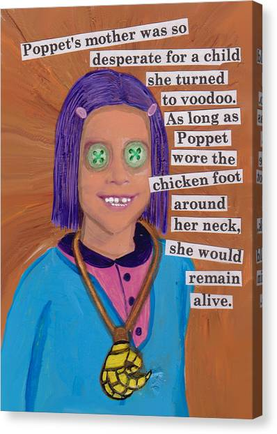 Poppet And The Voodoo Chicken Foot Canvas Print