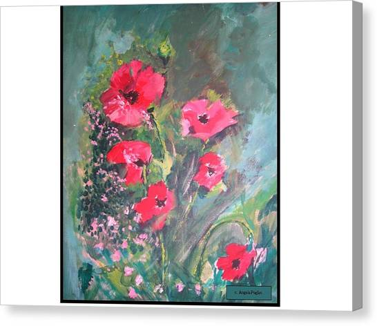 Poppies Canvas Print by Angela Puglisi