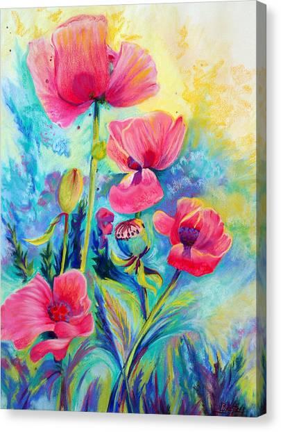 Poppies Canvas Print by Bente Hansen