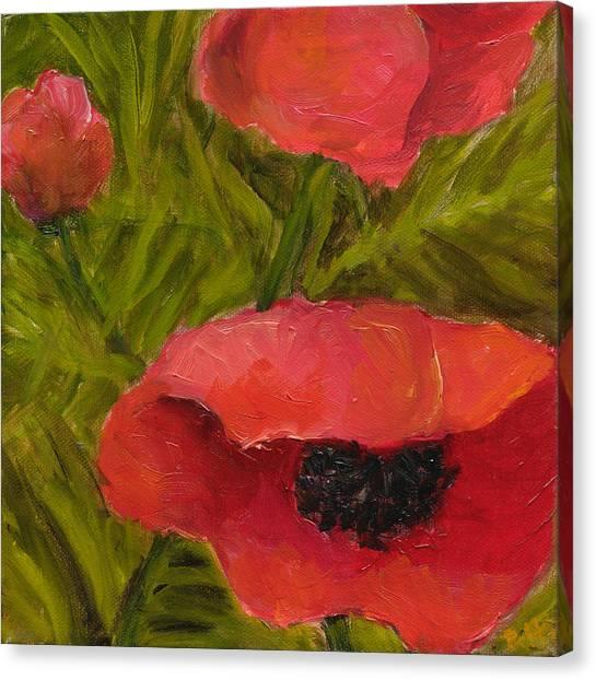 Poppies Diptych B Canvas Print by Rita Bentley