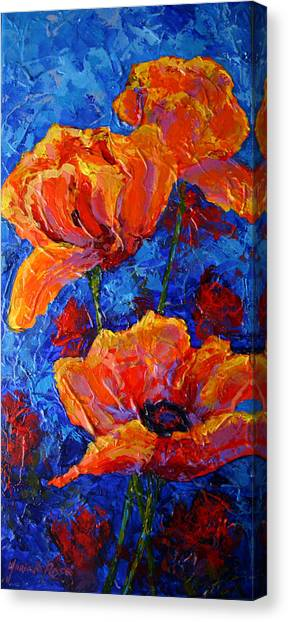 Red Poppy Canvas Print - Poppies II by Marion Rose