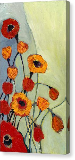 Gray Canvas Print - Poppies by Jennifer Lommers