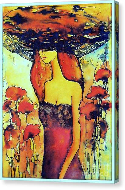 Wind Farms Canvas Print - Poppies Lady by Suzann's Art