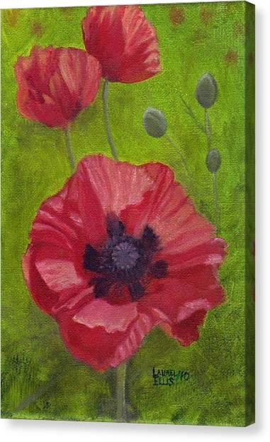 Poppies Canvas Print by Laurel Ellis