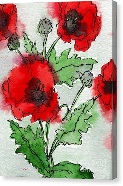 Poppies Popped Canvas Print