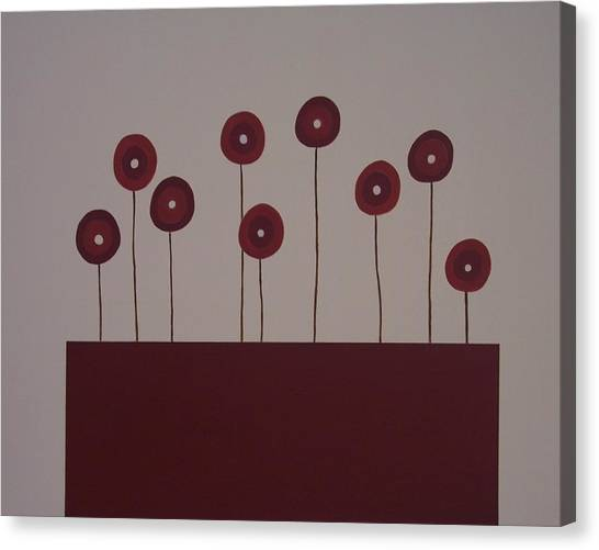 Poppies Canvas Print by Sandy Bostelman