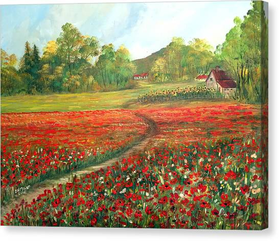Poppies Time Canvas Print