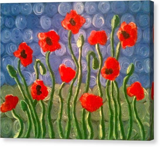 Poppies Canvas Print by Tina Hollis