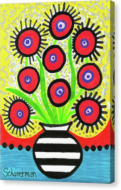 Poppin' Red Poppies Canvas Print