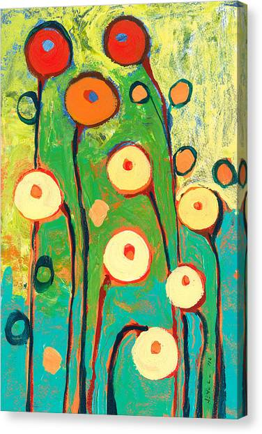 Mods Canvas Print - Poppy Celebration by Jennifer Lommers