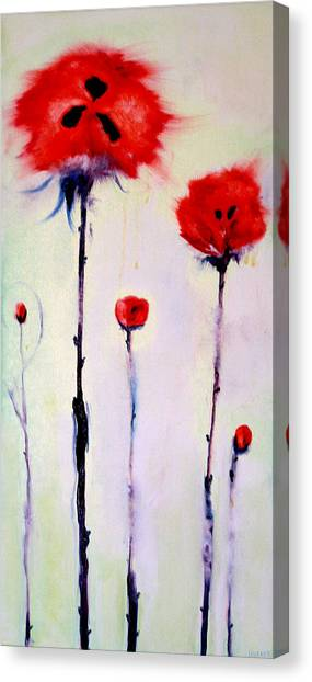 Poppy Family Canvas Print by Jenna Fournier