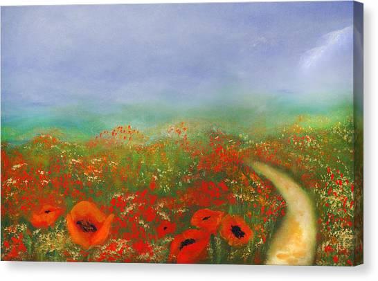 Poppy Field Impressions Canvas Print