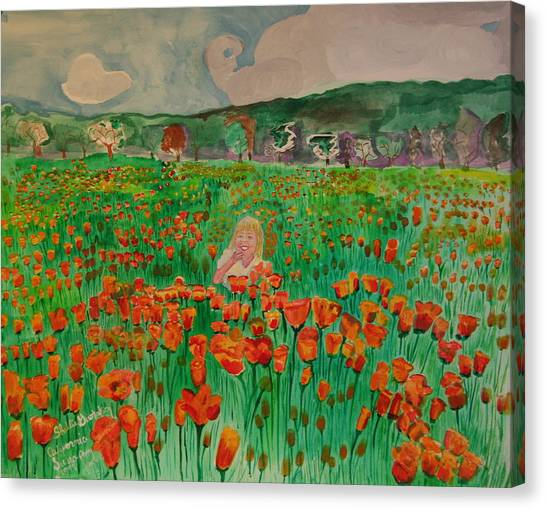 Poppy Field Canvas Print by Shellie Gustafson