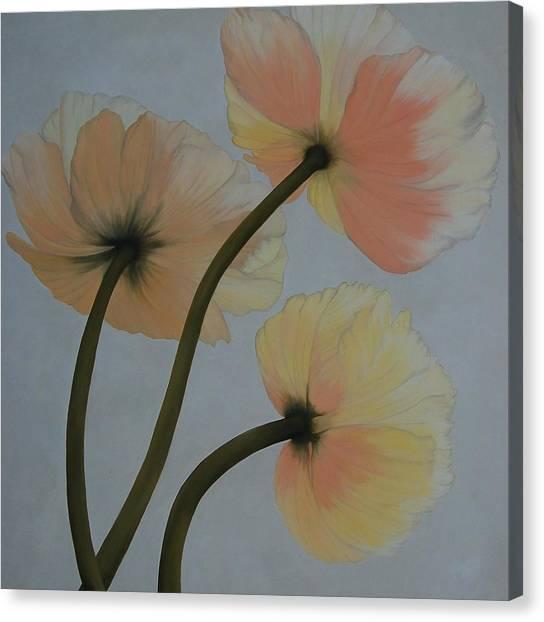 Poppy Ice Canvas Print by Karen Dukes