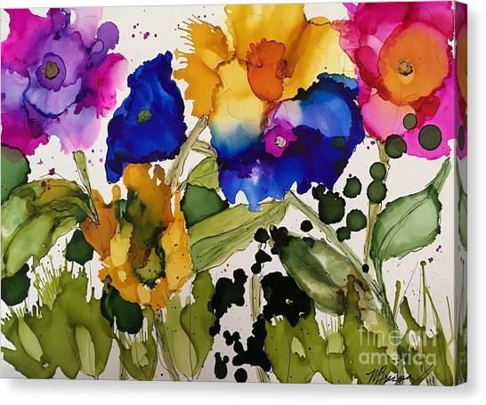 Poppy Party Canvas Print