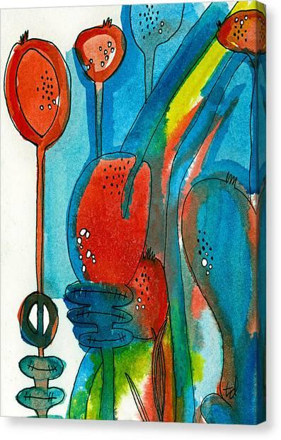 Poppy Pods 1 Canvas Print