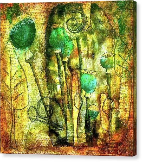 Poppy Pods Canvas Print