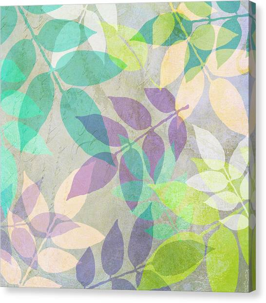 Leaf Canvas Print - Poppy Shimmer IIi  by Mindy Sommers