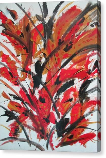 Poppy Storm Canvas Print
