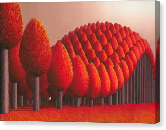 Canvas Print - Populus Flucta by Patricia Van Lubeck