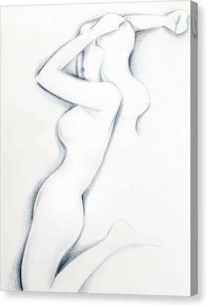 Canvas Print featuring the drawing Porcelain by Keith A Link
