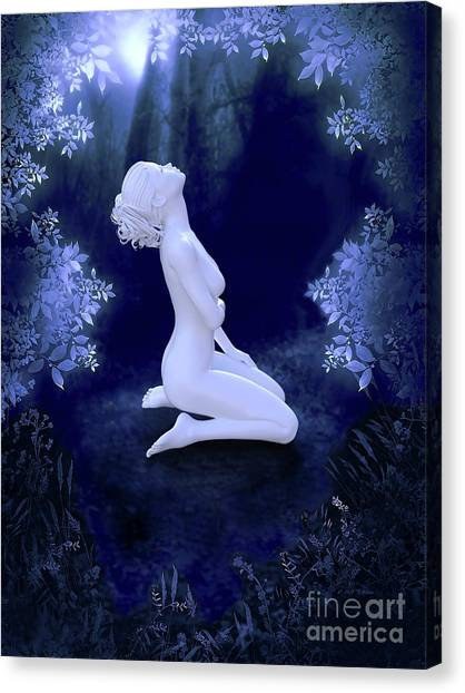 Porcelain Moon Canvas Print