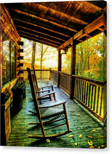 Porch Front Canvas Print