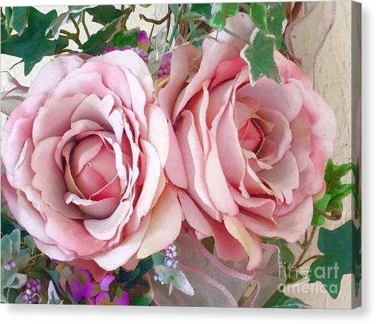 Porch Roses Canvas Print