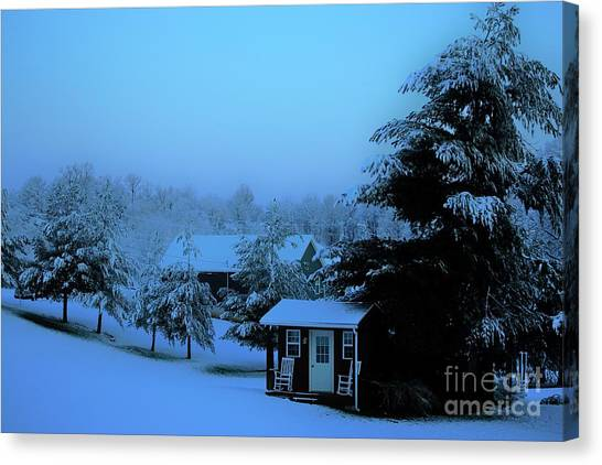 Porch Setting, Not Today Canvas Print
