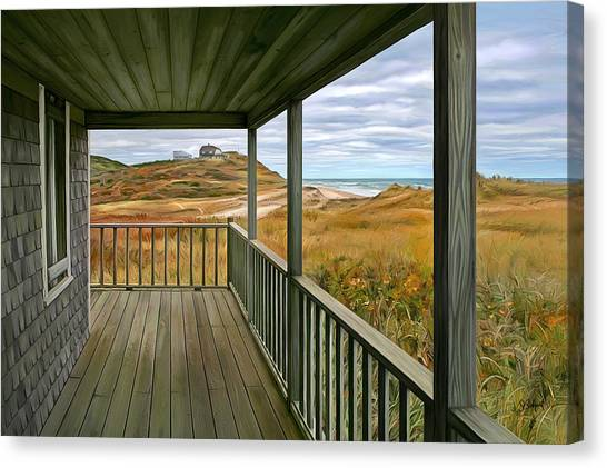 Porch View Canvas Print