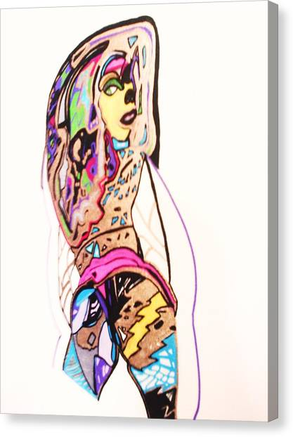 Porn Babes-amy Canvas Print by HollyWood Creation By linda zanini