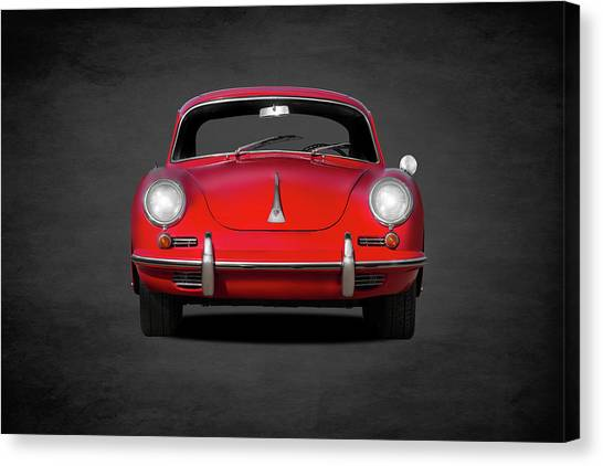 Sports Cars Canvas Print - Porsche 356 by Mark Rogan