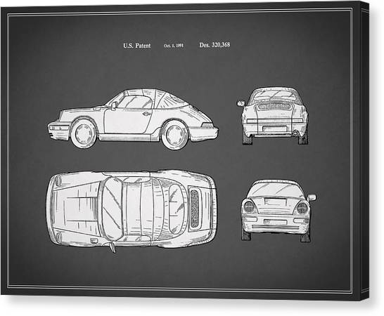 Car blueprint canvas prints page 4 of 25 pixels car blueprint canvas print porsche 911 cabriolet patent by mark rogan malvernweather Gallery