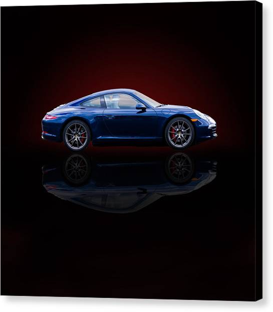 Porsche 911 Carrera - Blue Canvas Print